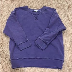 Gap - vintage purple crop sweater